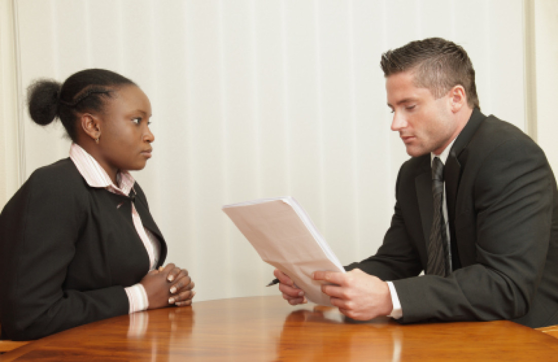 """Man Interviewing Woman"""