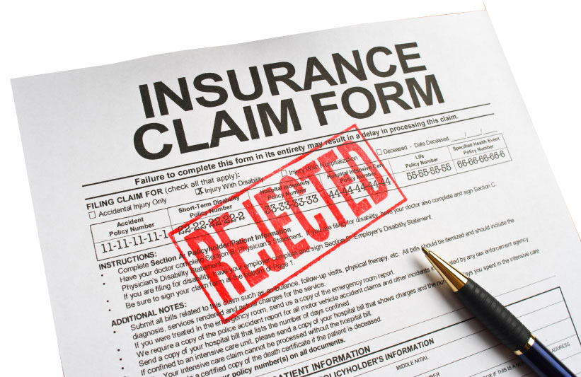 """Insurance Claim Form - REJECTED"""