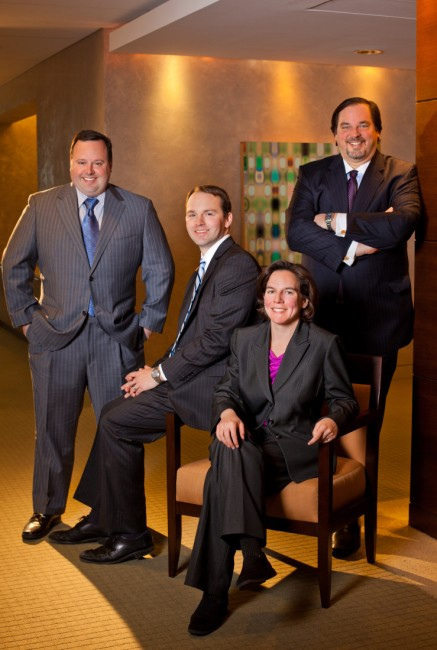"""From Left: P. Andrew Torrez, Jason M. Knott, Ellen D. Marcus, William A. Schreiner, Jr."""